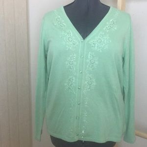 J.h. Collectibles Women's beaded cardigan 1X NWT